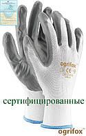 Перчатки защитные, изготовленные из полиэстера, покрытые нитрилом OX-NITRICAR WS