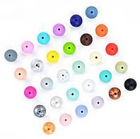 """Силиконовые бусины """"Шарики"""" 15 мм разноцветные"""