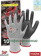 Перчатки нитриловые антиэлектростатические серые Reis Польша (защита рук) PETRO SWS