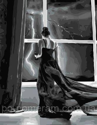 картина раскраска ночная гроза Brm5004 40 х 50 см