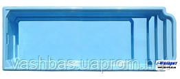 """Стационарный стекловолоконный бассейн  """"Атлантида 10"""" ПРЕМИУМ 10,3х2,90х1,50 м"""