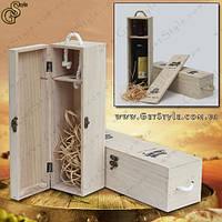 """Коробка для бутылки - """"Wooden Box"""", фото 1"""