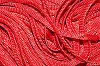 Шнур плоский 8мм (100м) красный + золото