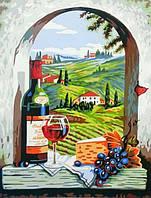 Картина по номерам Натюрморт с красным вином (BRM8522) 40 х 50 см