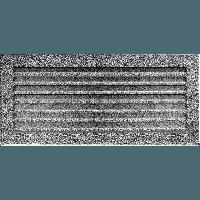 Вентиляционная решетка Kratki FRESH 17х37 черное серебро