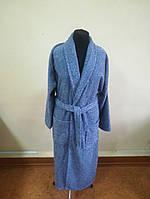 Махровый  халат синего цвета (XXL), фото 1
