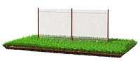 Забор из металлической сетки рабица 2 х 2,5 | Цена на производство и установку забор из сетки от изготовителя