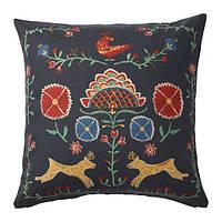 "IKEA ""RENREPE"" Чехол на подушку, разноцветный, 50x50 см"