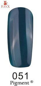 Гель-лак F.O.X 051 Pigment индиго, 6 мл
