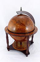 Глобус бар на 4-х ножках 360 мм коричневый