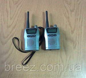 Миниатюрные портативные радиостанции Roger KP-21 в комплекте с кожаными чехлами