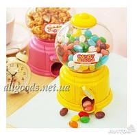 Копилка + конфетница. Конфетная машина candy machine желтый