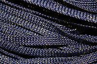 Шнур плоский 8мм (100м) синий + золото