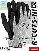 Перчатки защитные, изготовленные из пряжи HDPE R-CUT5-NI BWB