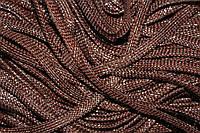 Шнур плоский 8мм (100м) шоколад + серебро