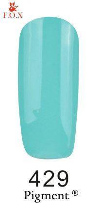 Гель-лак F.O.X 429 Pigment  мятный, 6 мл, фото 2