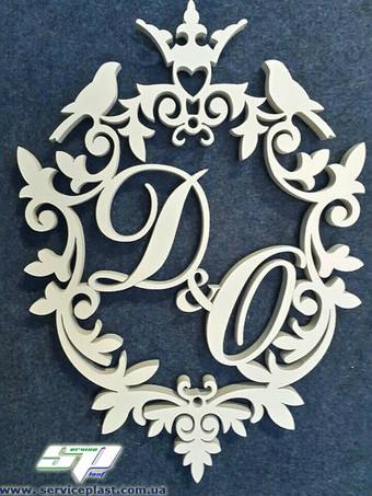 Свадебные гербы с инициалами молодых, рамки, монограммы для свадьбы. Оформление фотозоны