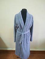 Махровый  халат серого цвета (XXL), фото 1