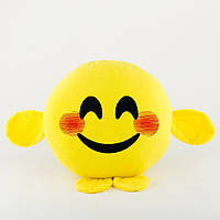 Подушка Смайл УЛЫБКА желтый флок, фото 1