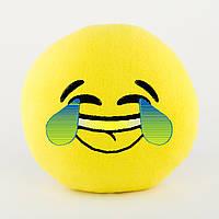 Подушка Смайл LOL желтый флок, фото 1