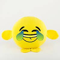 Подушка Смайл LOL желтый флок с лапками_склад