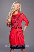 Платье с перфорацией от  ANGELINA 441-4.Размеры 52
