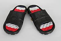 Тапочки пена подростковые черные с красным оптом Даго