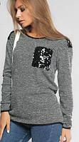 Женский джемпер Дороти серый, размеры 42-54