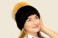 Шапка женская из меха норки и чернобурки., фото 1