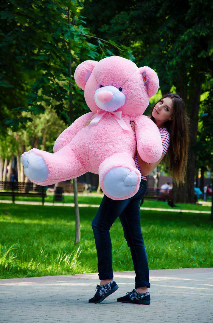 Большой плюшевый медведь 140см. Томми разные цвета (плюшевый мишка, мя