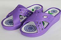 Тапочки пена женские фиолетовые оптом Даго