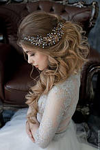 Модные тенденции в свадебных и вечерних прическах. Диадемы, веточки, гребни в качестве красивых украшений для волос