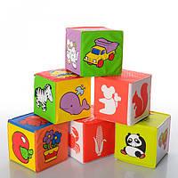 Кубики мягкие, для купания, погремушка, 6 шт, 5930