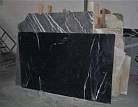 Мрамор Alaksandritte Black черный с белыми прожилками