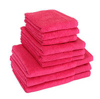 """Полотенце (50х90 см) махровое розовое """"STYLE 500"""" микрокотон, 100% хлопок, фото 1"""