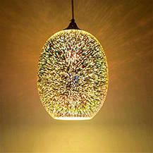 Подвесной светильник 3D овал QUANTUM Horoz Electric 40w хром, фото 2