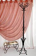 Вешалка кованая напольная с зонтовницей, бронза, фото 1