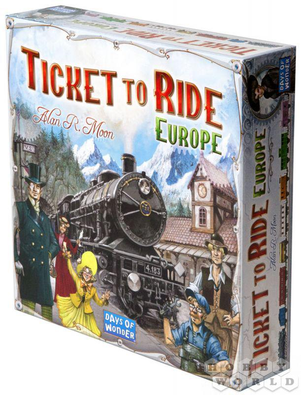 "Настольная игра ""Ticket to Ride: Европа"" (Hobby World, билет на поезд, для компаний)"