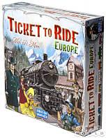 """Настольная игра """"Ticket to Ride: Европа"""" (Hobby World, билет на поезд, для компаний)"""