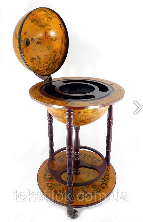 Глобус бар підлоговий на 3-х ніжках 360 мм коричневий