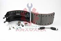 Комплект ремонтный колодки барабанной с накладками на точку  BPW 420x180 WVA19032