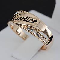 Стильное кольцо с кристаллами Swarovski, покрытое золотом 0674