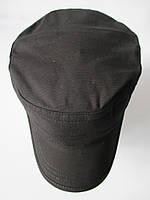 Кепка немка черного цвета из коттона, фото 1