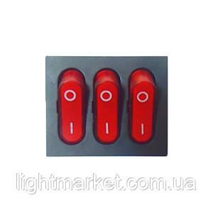 Кнопка 3 Клавиши 9 Контактов GY-2025-7, фото 2