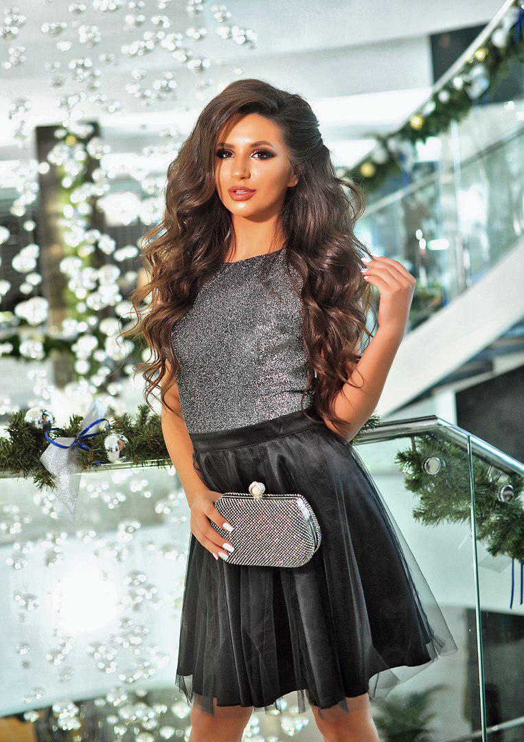 Изысканное платье Victoria с пишним фатином в низу платья (2 цвета) (139) 47ab99de10ba8