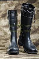 Сапоги резиновые со съемным носком черные
