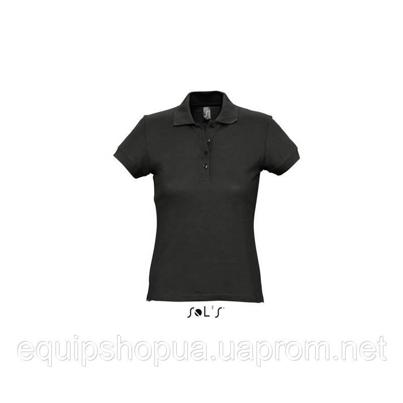 Рубашка поло SOL'S PASSION-11338 Чёрный, S