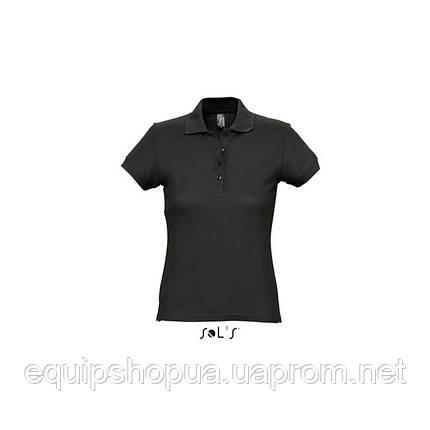 Рубашка поло SOL'S PASSION-11338 Чёрный, S, фото 2