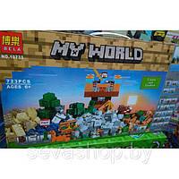 Конструктор Bela 10733 Майнкрафт Верстак 2.0 Набор для творчества (аналог Lego Minecraft 21135)