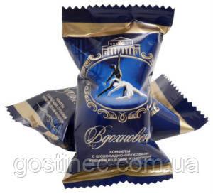 Шоколадні цукерки Натхнення c мигдальним кремом і цільним мигдалем кондитерської фабрики Бабаєвський